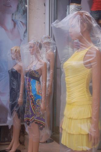 mannequins in plastic