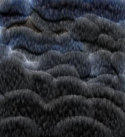 dark clouds painting