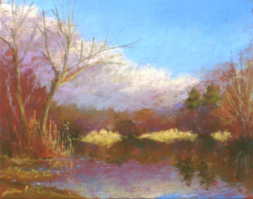 Jeff Fioravanti painting of a pond
