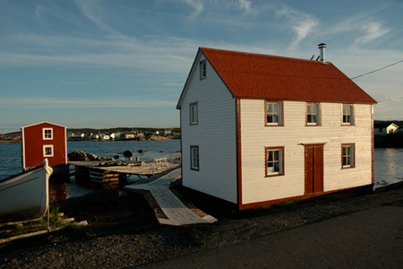 Restored Albert Dwyer Premises, Tilting, Fogo Island, Newfoundland