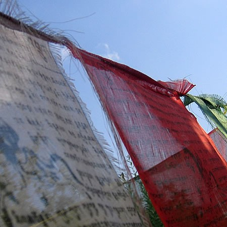 prayer flag 1 by Dorothee Lang