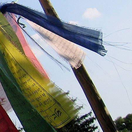 prayer flag 2, by Dorothee Lang