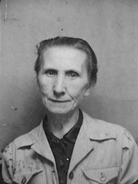 Veronika, first i.d. photo (1945) after Auschwitz