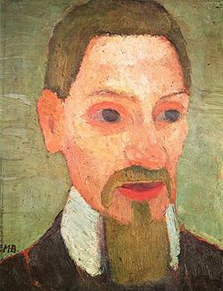 Porträt des Rainer Maria Rilke (1906) by Paula Modersohn-Becker