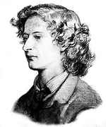Sketch of Swinburne by Dante Gabriel Rossetti