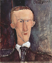 Cendrars' portrait by Amadeo Modigliani (1917)