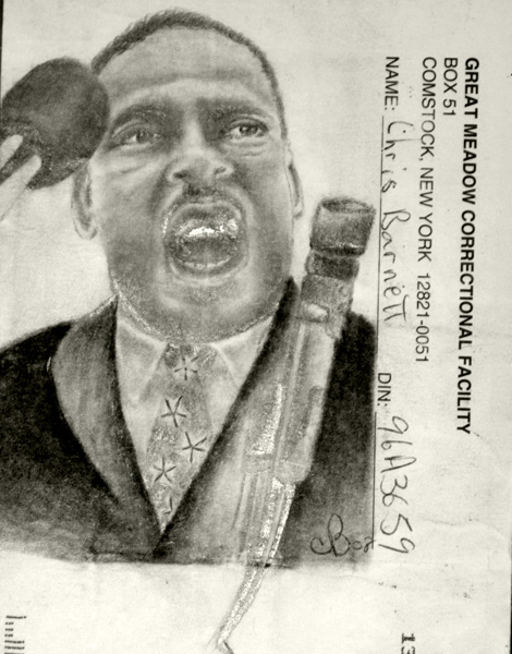 Martin Luther King envelope by Chris Barnett