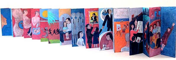 Natalie d'Arbeloff's My Life Unfolds accordion book